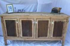 YOUR Custom Rustic Barn Wood Credenza or Sideboard Dresser. $750.00, via Etsy.