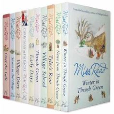 For great relaxing reads.... Enjoy Miss Read and the Thrush Green series.  Delighful English village series.