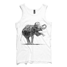 Elephant Boombox Singlet