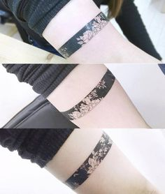Floral armband tattoo. Tattoo artist: Banul