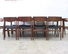 x10 seater Danish rosewood dining suite - The Vintage Shop