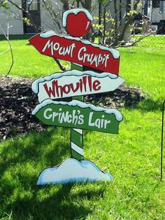 The Grinch Yard Art Sign-Mount Crumpit Whoville Grinch's