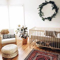Nursery Inspo • clean, simple, eclectic nursery via Pintrest