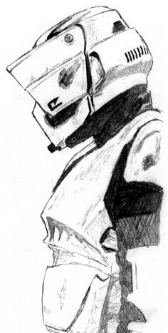 Star Wars Biker Scout by on DeviantArt - Star Wars Clones - Ideas of Star Wars Clones - Star Wars Biker Scout by on DeviantArt Star Wars Clone Wars, Star Wars Saga, Star Wars Concept Art, Star Wars Fan Art, Star Wars Painting, Star Wars Drawings, Star Wars Personajes, Star Wars Models, Star Wars Pictures