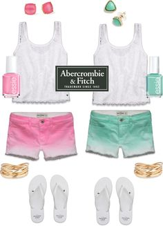 """hmm pink or mint Abercrombie ??"" by danielleb374 ❤ liked on Polyvore"