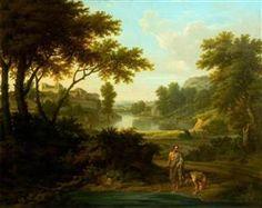 Diogenes Throwing away His Bowl (afrer Nicolas Poussin) - George Lambert