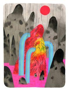 Graham Yarrington's Illustrative Landscapes Haunted by Shadows | Hi-Fructose Magazine