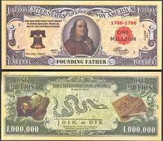 Ben Franklin Founding Father Million Dollar Novelty Bill - LOT of 100 Bills * Visit the image link more details. Payroll Checks, Play Money, Gold Money, Business Checks, Some People Say, Great Life, Benjamin Franklin, Founding Fathers, One In A Million