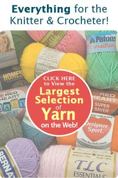 Previous pinner says: Just bought a large selection from Herrschners online. Way more caring about customer satisfaction and more flexible than Knitting Warehouse who admit they are inflexible. Herrschners is a great place to purchase your crochet needs. Crochet Yarn, Knitting Yarn, Crocheting Patterns, Yarn Store, New Crafts, Fun Stuff, Stuff To Buy, Yarn Needle, Spin