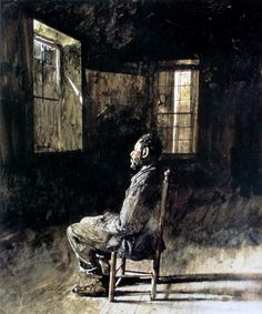Andrew Wyeth - 'Moved Out' 1964 WC