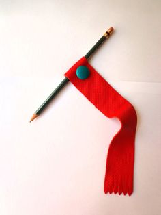 Santa Fe Red-Leather Bookmark-Turquoise Leather Vintage Button-Fringe-Handmade