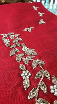Best 12 Hand embroidery for Indian dress Contact 9560685109 for d – SkillOfKing. Zardosi Embroidery, Embroidery Neck Designs, Hand Embroidery Videos, Bead Embroidery Patterns, Hand Embroidery Flowers, Embroidery Suits Design, Hand Work Embroidery, Embroidery On Clothes, Embroidery Fashion