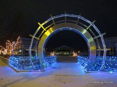 Reminiscing on hockey trip to Grand Forks, ND - The Walking Tourists East Grand Forks, University Of North Dakota, Red Lake, Commercial Center, Red River, Holiday Lights, Hockey, Walking, Skate