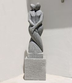 Twin Flame Modern Art Stone Statue - Large Garden Sculpture. Buy now at http://www.statuesandsculptures.co.uk/large-garden-sculptures-twin-flame-modern-art-stone-statue