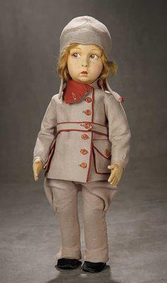 """A Time For Gratitude"" - Sunday, November 13, 2016: 47 Italian Felt Character Doll, Series, 149, as Aviatress by Lenci"