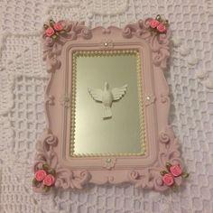 Quadro espelho Espírito Santo rosa.