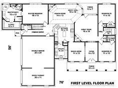 Unique plan with hearth room