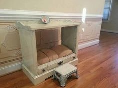 CUSTOM PET BED FROM OLD TV