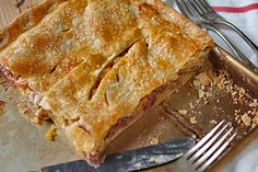 Rhubarb Slab Pie -- curious to try this. Never heard of a slab pie before, but it sounds like a great dessert for pot luck and picnics.