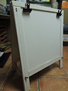 Was cot. Now painting easel.