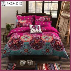 Cheap linen retail, Buy Quality linen seed directly from China linen Suppliers: Bohemian Style Floral Printing Twin/Queen/King Size Bedding Set Comforter Duvet Cover Set Bed Linen Bedspread Pillowcase 3d Bedding Sets, King Size Bedding Sets, Luxury Bedding Sets, Duvet Sets, Duvet Cover Sets, Cover Pillow, Blanket Cover, Bed Covers, Bohemian Style Bedding