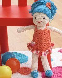 Crochet Girl - Quick and Easy Crochet Doll from All Free Crochet dot Com.