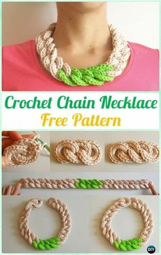 Crochet Necklace Free Patterns & Instructions: Collection of Crochet Spring necklace, flower necklace, Summer Necklace, Chain Necklace Crochet Necklace Pattern, Crochet Snowflake Pattern, Crochet Jewelry Patterns, Crochet Chain, Crochet Bracelet, Thread Crochet, Crochet Accessories, Crochet Designs, Crochet Crafts