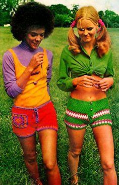 1970s crocheted hot pants
