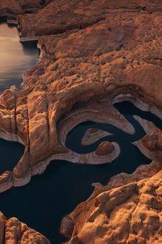 Lake Powell & Reflection Canyon, Glen Canyon National Recreational Area, Utah  (by Mike Reyfman on 500px)