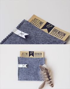 a felt invite pocket! How cute!
