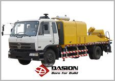 HBC Truck mounted concrete pump used for construction projects and having more advantages than others concrete pump trucks,