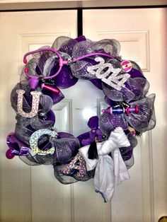 UCA Graduation Wreath for Nursing School Nursing School Graduation, Graduate School, Nurse Wreath, Craft Gifts, 4th Of July Wreath, Wreaths, Retirement, Crafts, College