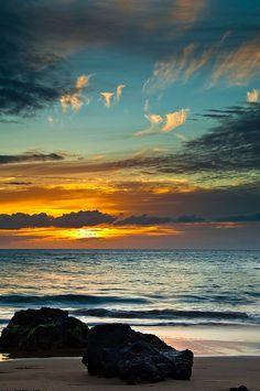 #sunset at the #beach