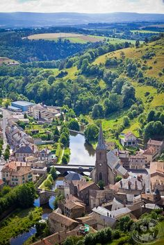 Auvergne, France. Indulge your romantic, historic, cobblestone-street-strolling side...