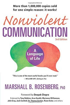 Nonviolent Communication: A Language of Life, 3rd Edition: Life-Changing Tools for Healthy Relationships (Nonviolent Communication Guides) by Marshall B. Rosenberg PhD http://www.amazon.com/dp/189200528X/ref=cm_sw_r_pi_dp_dRmDwb16JAHWC