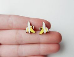 "✖ Banana Earrings by kateslittlestore on Etsy, $8.00 ""There's always money in the banana stand!!"""