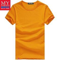 3d33085be 2018 Men's Summer Wear Short-Sleeved T Shirt Men's Cotton Refreshing t  shirt Men 16 Color Plus Size:S-5XL slim fit tee shirts