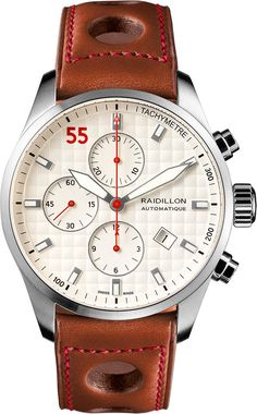 Raidillon Watch Casual Friday Chronograph Limited Edition #add-content #bezel-fixed #bracelet-strap-leather #brand-raidillon #case-material-steel #case-width-42mm #chronograph-yes #date-yes #delivery-timescale-call-us #dial-colour-white #gender-mens #limi