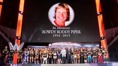 """Raw 8/3/15: The entire WWE roster honors WWE Hall of Famer """"Rowdy"""" Roddy Piper"""