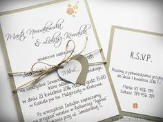 Zaproszenie ślubne w formie karty