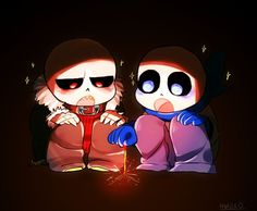Underfell sans and underswap sans || Fell and Blueberry