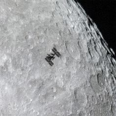 O'Donnell posted this close-up of the shot on his website to show the ISS's modules and solar arrays in greater detail.<br />