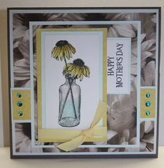 Tracy S.'s Gallery: Cone flower Mother's Day card