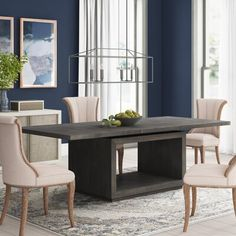 Trestle Dining Tables, Solid Wood Dining Table, Modern Dining Table, Dining Table In Kitchen, Table And Chairs, Side Chairs, Wood Countertops, Leaf Table, Acacia Wood