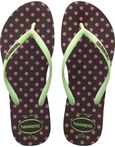 4aeef3334 Havaianas Slim Fresh Pop Up Dark Brown Flip Flop - Poke a dots everywhere.  These Slim Fresh Pop Up Dark Brown flip flops from Havaianas are beautiful.