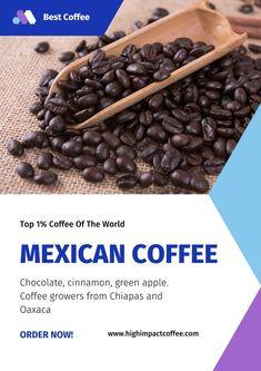 Certification/Grading: EP, Organic Roast: Medium Tasting Profile: Chocolate, cinnamon, green apple. Grower: Coffee growers from Chiapas and Oaxaca Clay Minerals, Types Of Soil, Chocolate Coffee, Sun Dried, Best Coffee, Cinnamon, Roast, Mexico, Apple