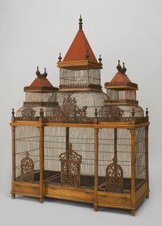 Large Turn of the Century French Birdcage image 2