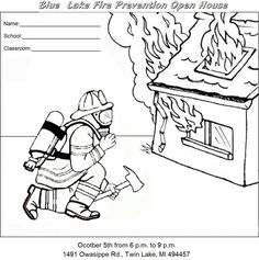 Cut Out Coloring Pages Fire Trucks Safety Websites For Kids Animal