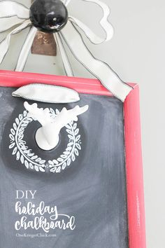 A DIY Holiday Chalkboard with so many possibilities for decor!  OneKriegerChick.com #ShopConsumerCrafts