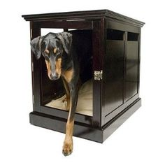 DenHaus TownHaus Indoor Dog House and End Table Crate, Large, Espresso - Canada